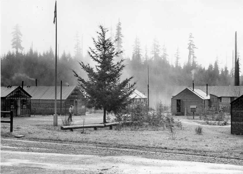 CPS Camp No. 21, Cascade Locks Oregon. Larch Mtn. Camp