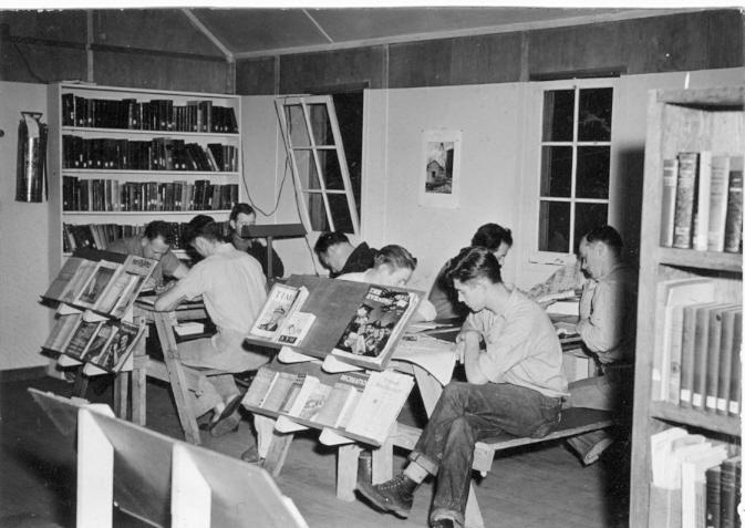 CPS Camp No. 21, Cascade Locks Oregon - library 1.