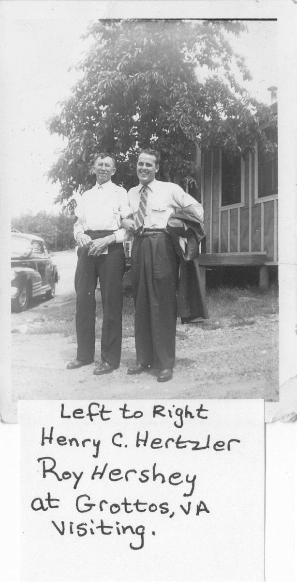 Russell Hertzler's Dad Visiting
