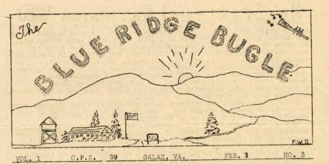 CPS Camp No. 39, The Blue Ridge Bugle