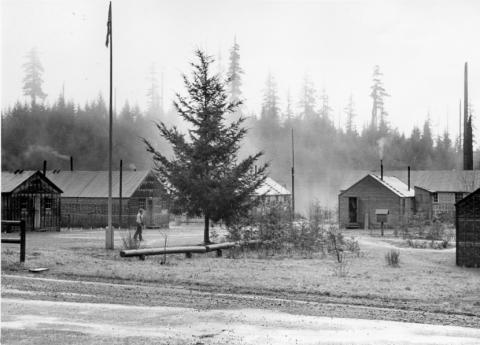 CPS Camp No. 21, Cascade Locks Oregon. Larch Mtn. Camp