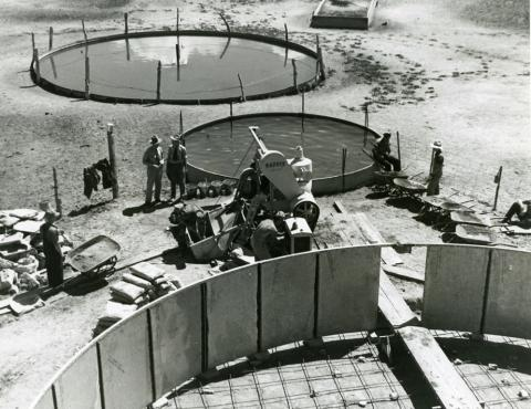 Construction of water tanks for water conservation