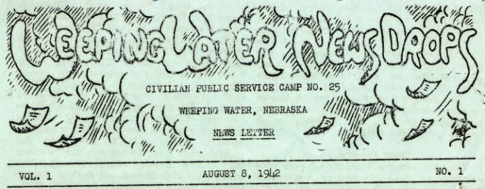 CPS Camp No. 25, Weeping Water News Drops Newsletter