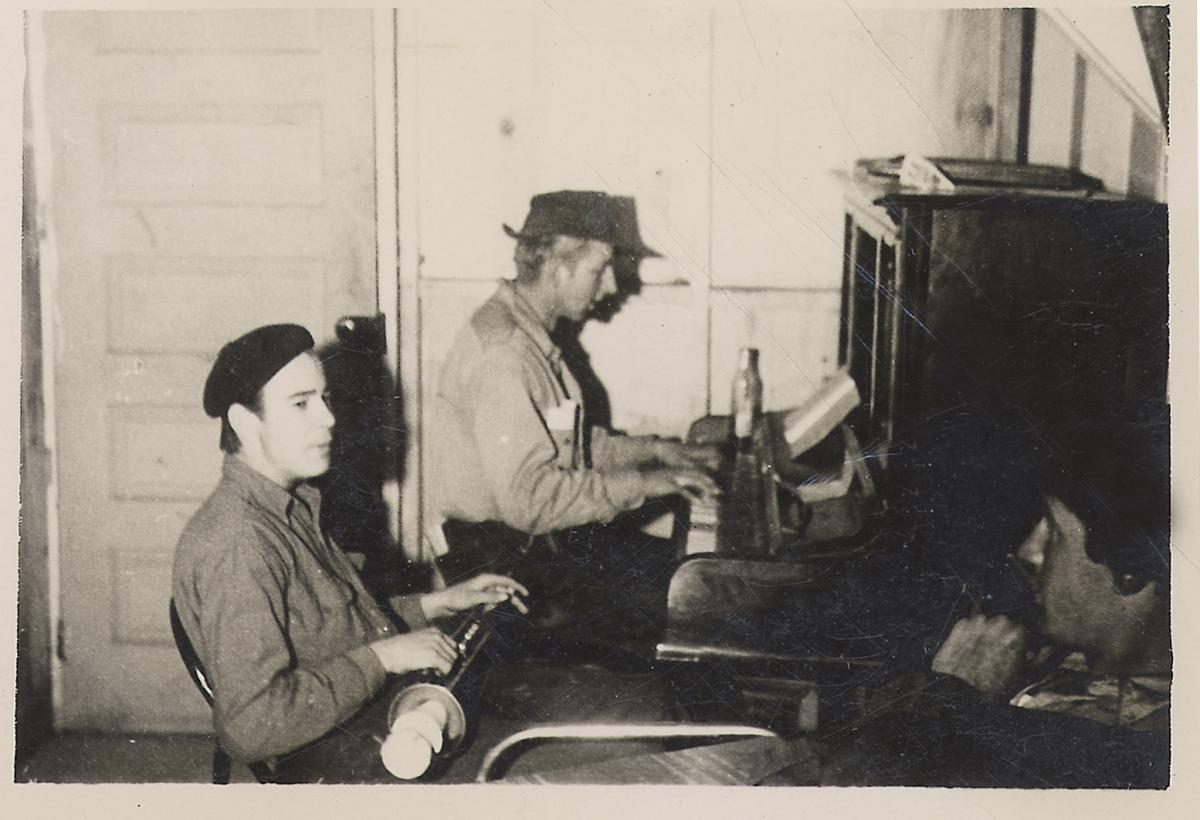 Kenny Whitson and Budd Steinhilber at Camp 111, Mancos, Colorado